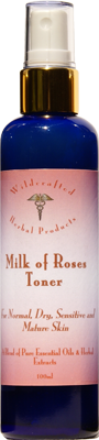Milk of Roses Toner is a skin toning lotion to prevent loss of moisture after cleansing the facial skin